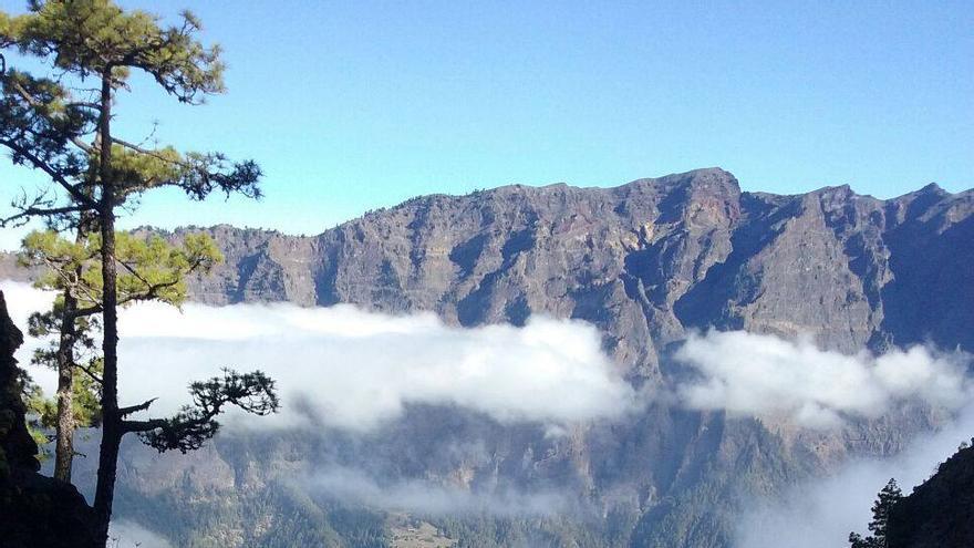 Vista general del lugar donde se realizan los trabajos verticales. Foto: Parque Nacional de La Caldera.