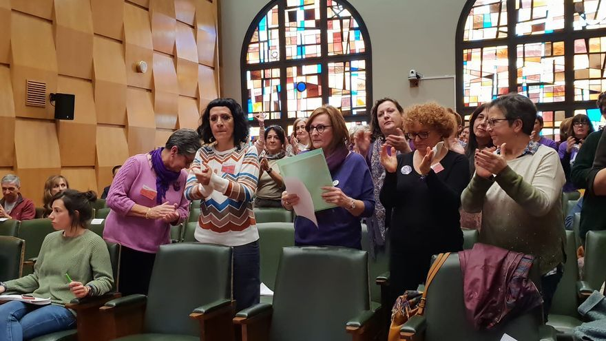 Intervención de la  Coordinadora de Organizaciones Feministas Zaragoza en el pleno del Ayuntamiento de Zaragoza.