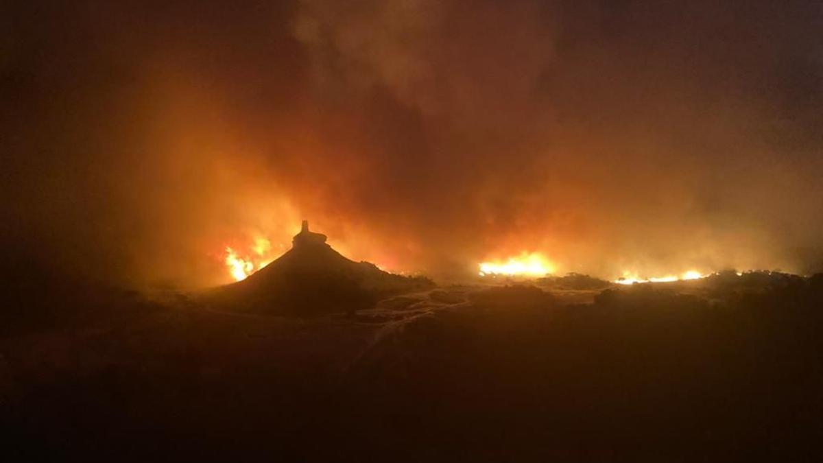 Incendio en la Reserva Natural del Vedado de Eguaras