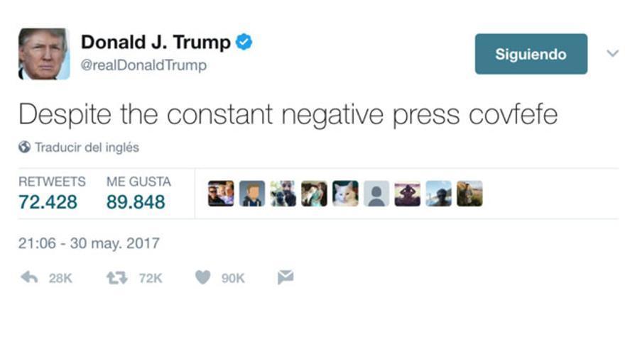 El famoso tweet que Trump ha borrado a las pocas horas