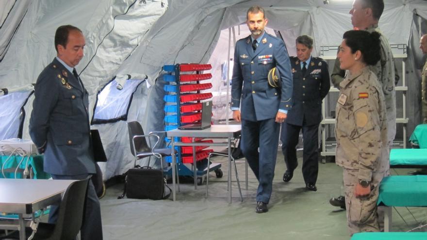 El Príncipe visita al 47 Grupo de las Fuerzas Aéreas, la UMAAD y la UMAER en la Base Aérea de Torrejón