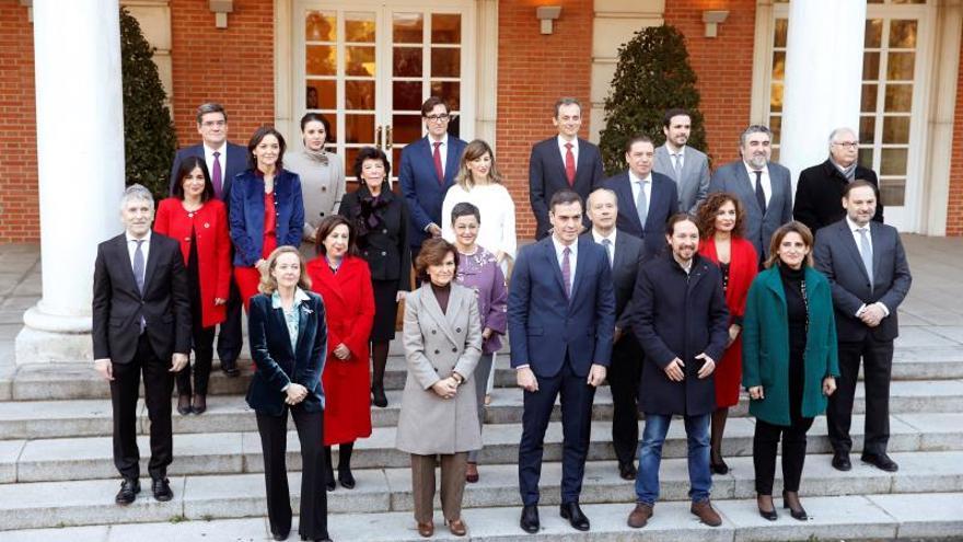 Foto de familia del Consejo de Ministros.