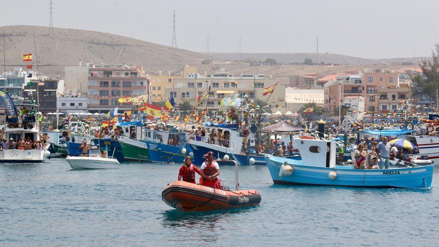 Embarcaciones en el Puerto de Arguineguín.