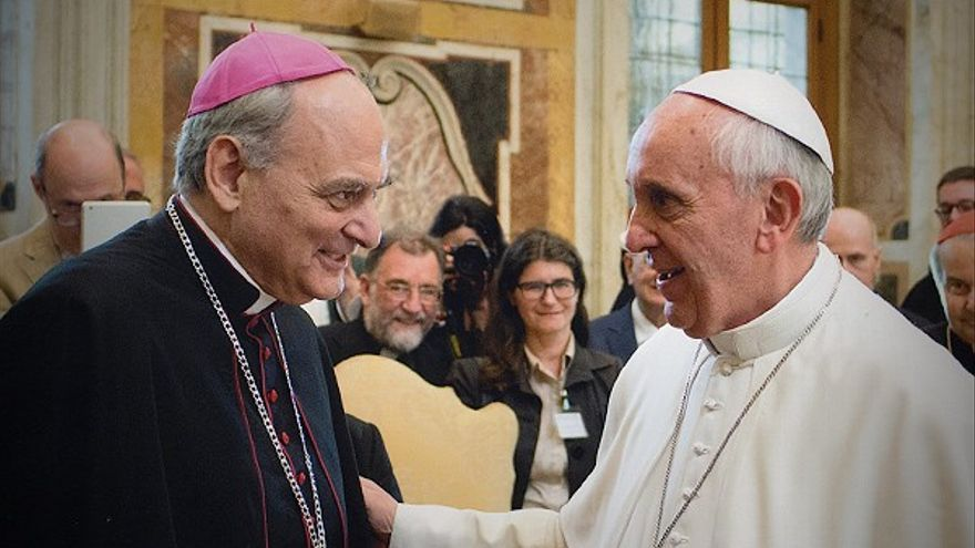 Marcelo Sánchez Sorondo y el papa Francisco.