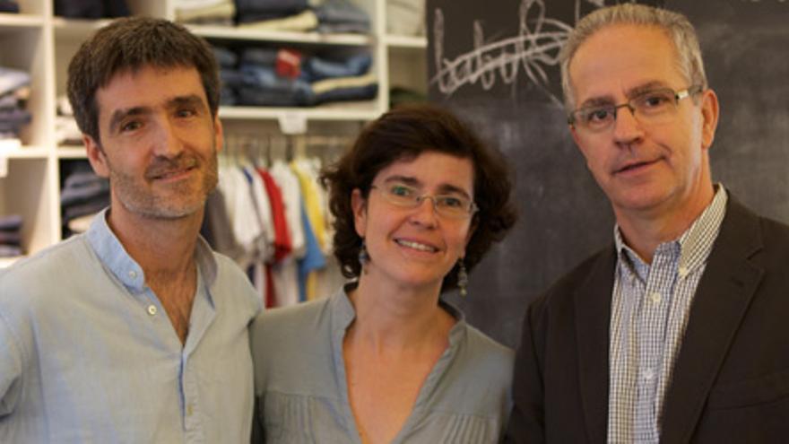 Jaume Plana, Ana Artacoz y Miquel Isanta, fundadores de Moltacte