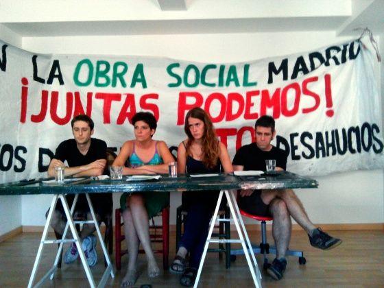 Rueda de prensa en el quinto piso de La Manuela