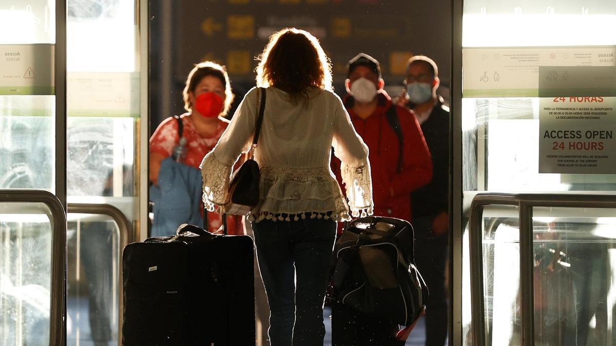 Terminal de llegadas del aeropuerto de Barajas, en Madrid.