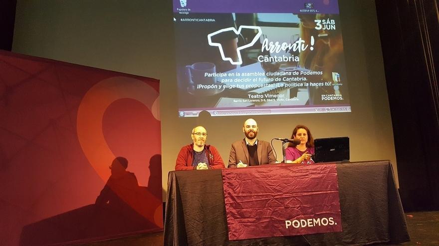 Podemos Cantabria quiere impulsar un proyecto popular para ser alternativa de gobierno en 2019