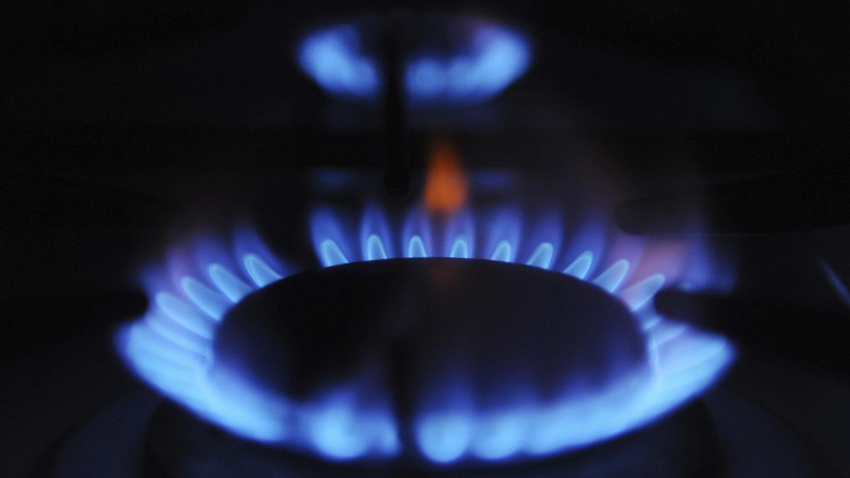 Un quemador de una cocina de gas.