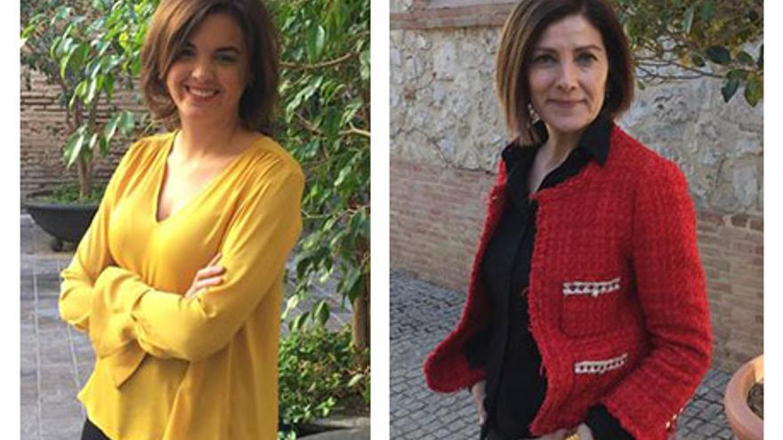 Las candidatas del PSPV en Valencia Sandra Gómez y Maite Girau