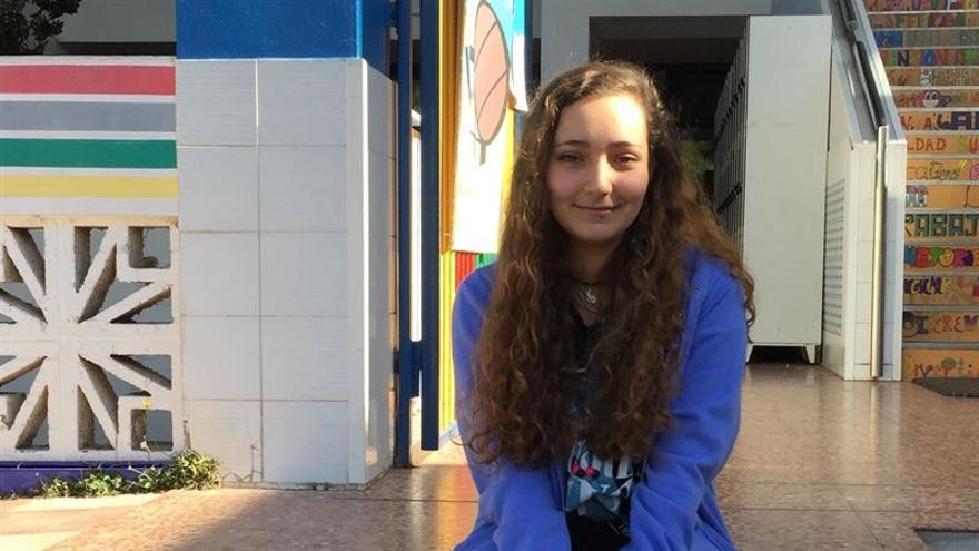 Daniela Laguna Ortega, alumna de bachillerato de Artes del Colegio Nuryana.