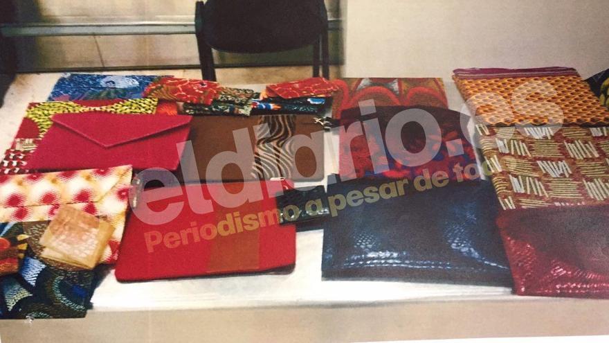 Los bolsos incautados al comisario Meca en el aeropuerto de Barajas