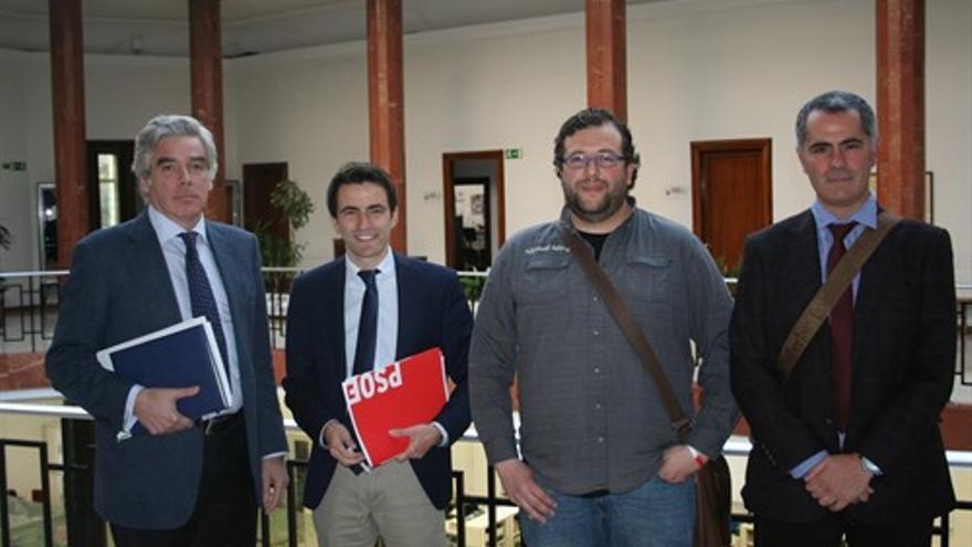 Portavoces municipales de la oposición de Santander.