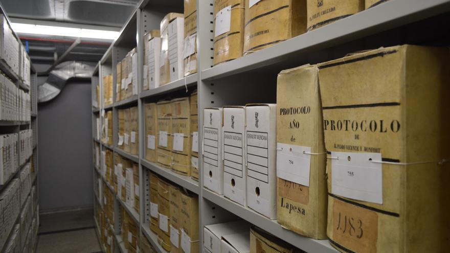 Archivo Histórico Provincial de Castellón, en sus instalaciones provisionales.
