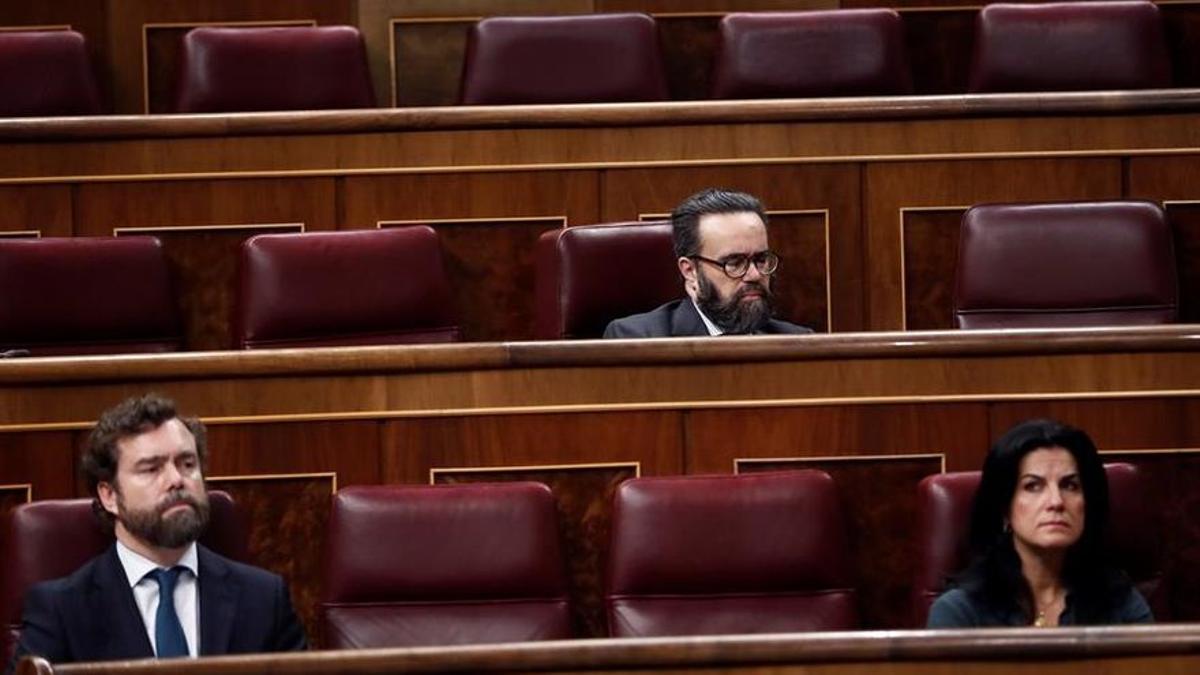 El diputado de Vox Javier Sánchez García, con gafas.