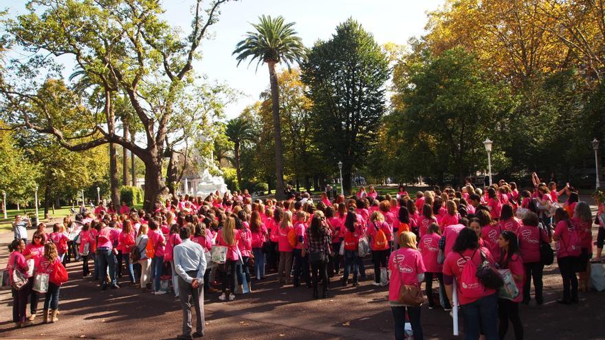 Más de 700 matronas se han concentrado en Bilbao para reclamar más profesionales.