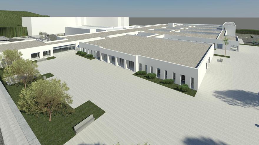 Recreación virtual de cómo será el 'nuevo' Hospital de Dolores que se ubicará en las antiguas instalaciones del Hospital de Las Nieves.