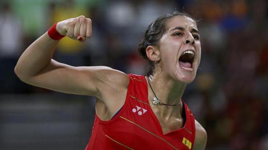 Ha tardado en llegar el primer triunfo, pero Carolina Marín siempre acude a su cita con la gloria.