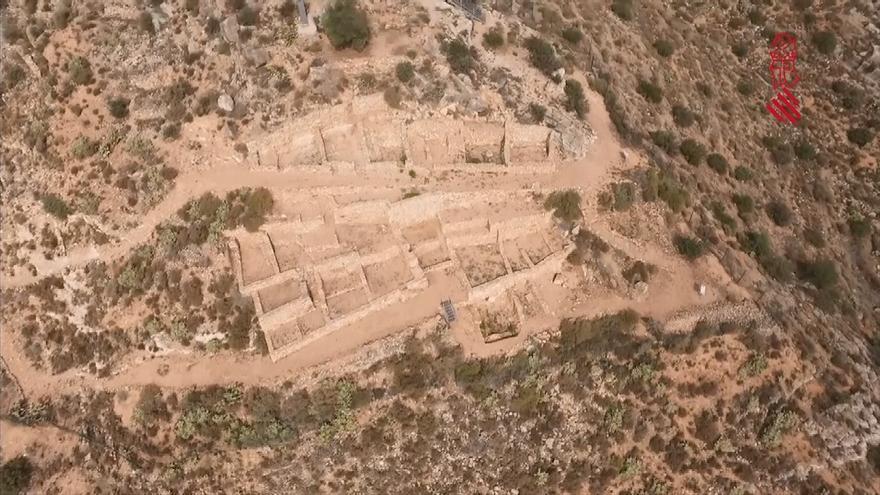 Imagen aérea de un dron sobre un yacimiento en Llíria