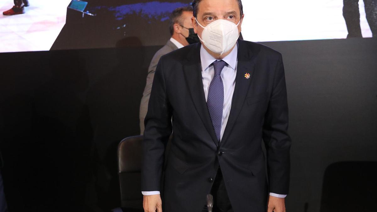 El ministro de Agricultura, Luis Planas, a su llegada a la Conferencia Sectorial de Agricultura y Desarrollo Rural