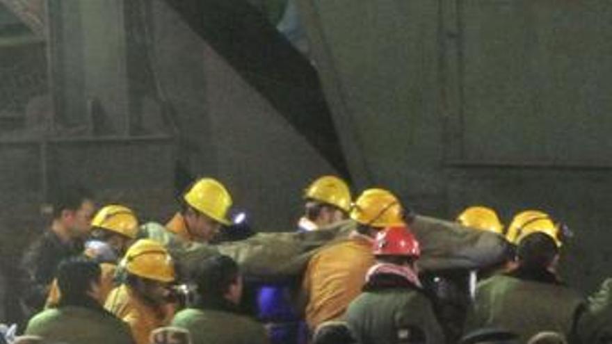 Mineros en China
