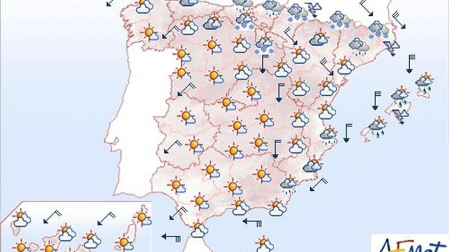 Mañana lluvias fuertes en Cataluña y viento en el nordeste y Baleares