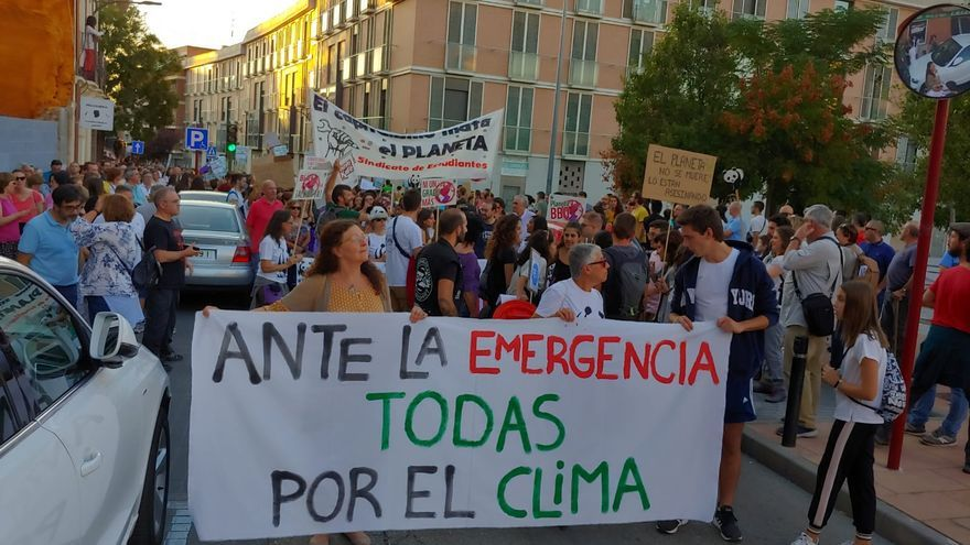 Manifestación por el clima en Guadalajara