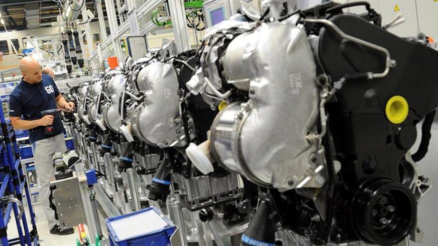 La producción industrial de la eurozona creció un 1,3 % en mayo