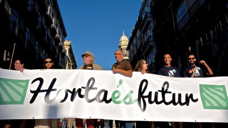 Manifestació 'Horta és Futur' el 16 maig del 2015