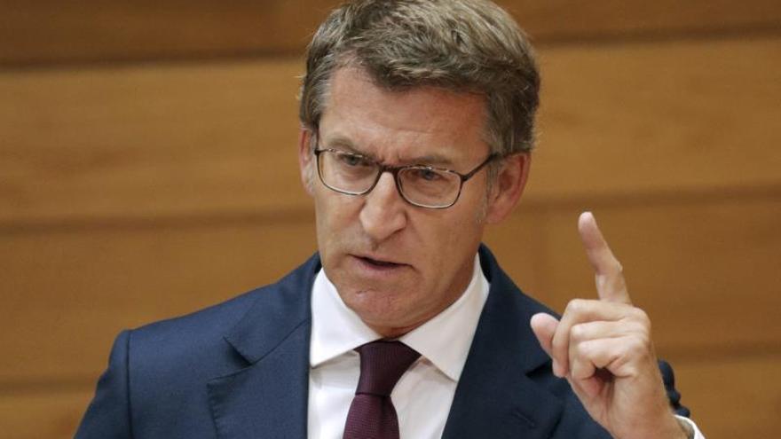 El presidente de la Xunta, Alberto Núñez Feijóo esta semana durante el pleno del Parlamento de Galicia.
