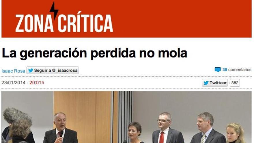 Artículo de Isaac Rosa en eldiario.es