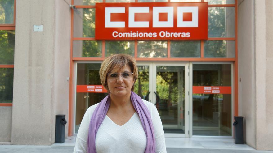 Carmen Poveda, delegada sindical de Comisiones Obreras y trabajadora de Burger King despedida este agosto.