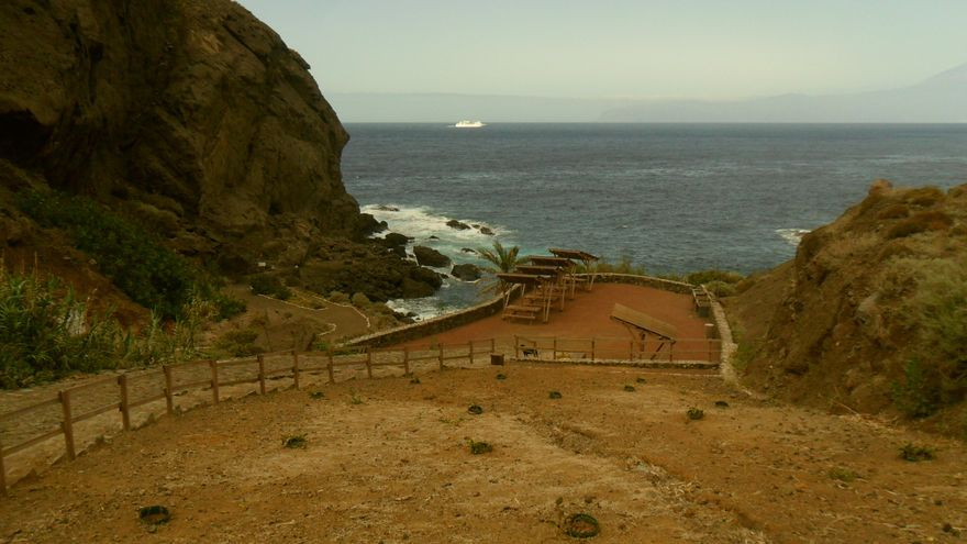 Área recreativa de la playa de San Marcos en Agulo