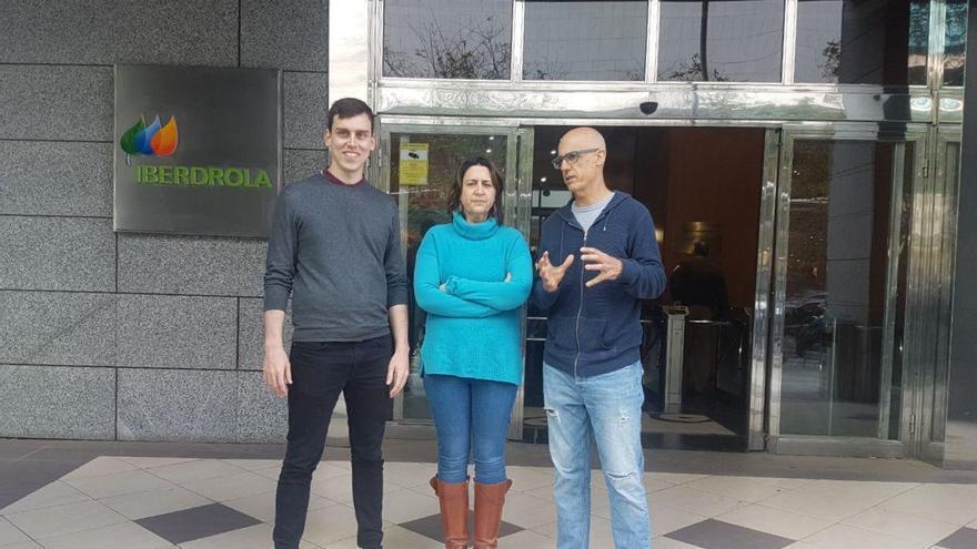 Ferrán Martínez, Rosa Pérez Garijo y Julià Álvaro frente a Iberdrola