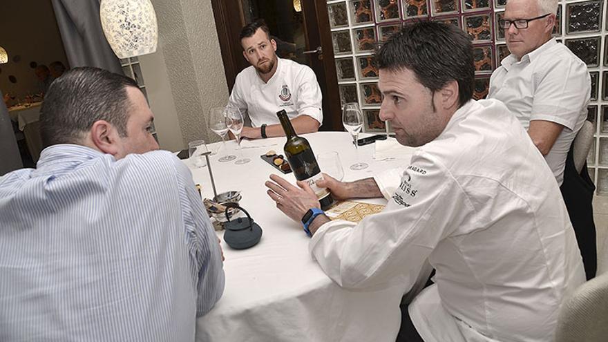 Con Fran Martínez, en el restaurante Maralba de Almansa (Albacete)
