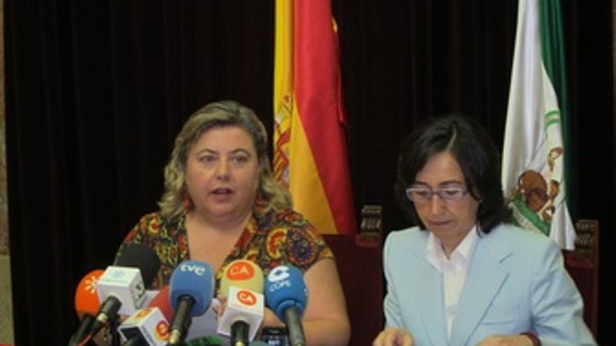 Aguilera Y Aguilar Tras Mantener Una Reunión Con Organizaciones Agrarias