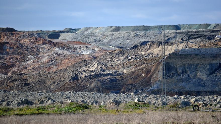 La zona de la mina afectada por el derrumbe el pasado 23 de enero.