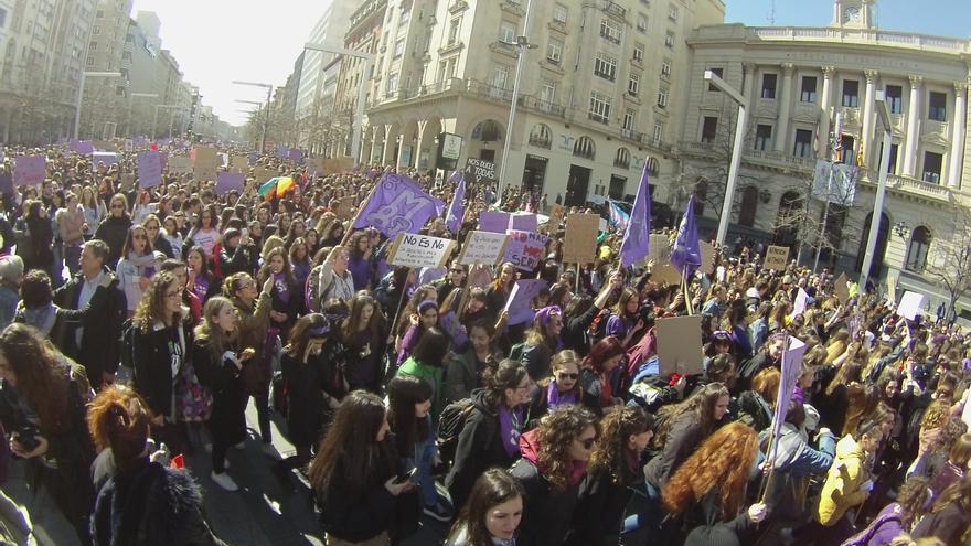 Manifestación por el paseo de la Independencia de Zaragoza este 8M de 2019