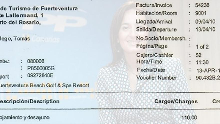 Factura del caso Patronato del actual secretario de Estado de la Seguridad Social, Tomás Burgos Gallego.