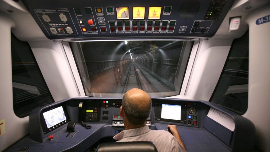 Un maquinista del Metro de Madrid