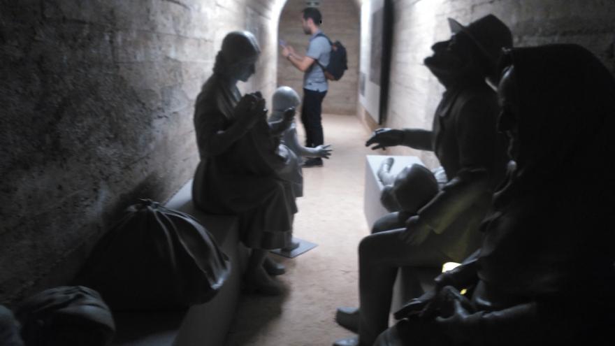 Interior del refugio antiaéreo de Castelló convertido en museo por el Ayuntamiento de la ciudad.