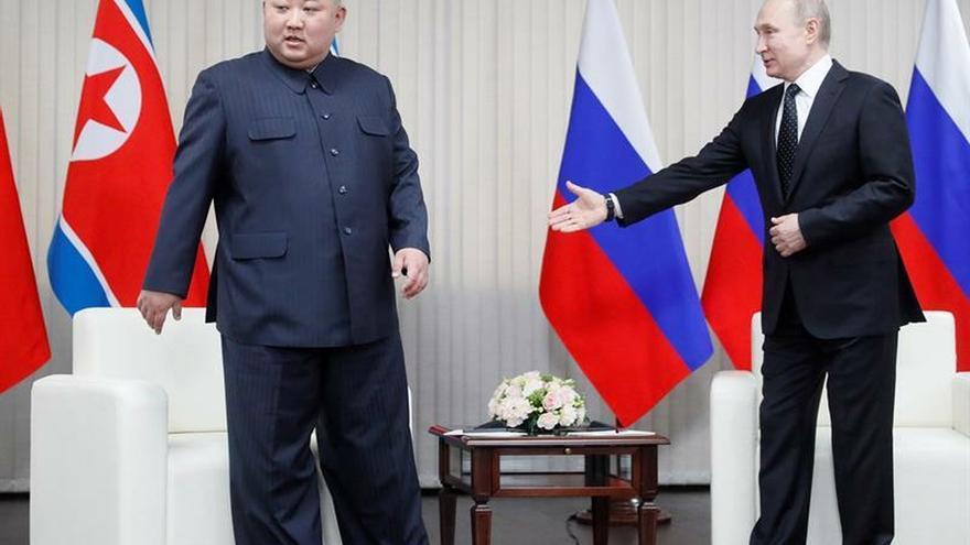 Putin y Kim confían en que la cumbre contribuirá al proceso de desnuclearización