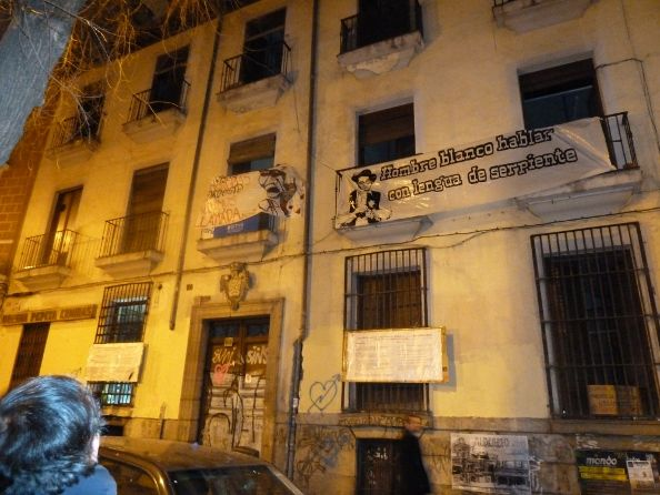 Edificio 'okupado' en la Corredera Baja de San Pablo, 20 | Foto: AP