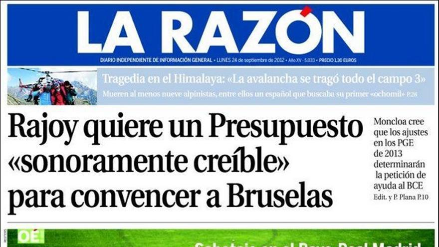 De las portadas del día (24/09/2012) #9
