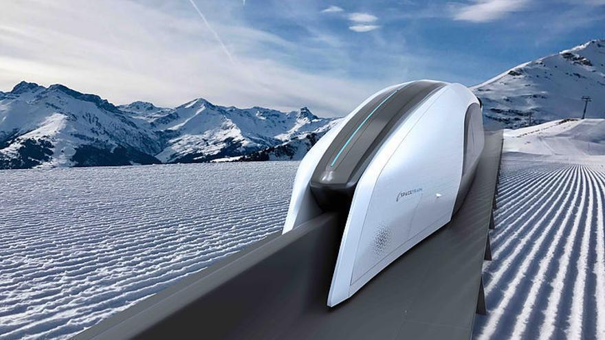 Este nuevo aerotrén estará hecho de fibra de carbono y se desplazará por suspensión