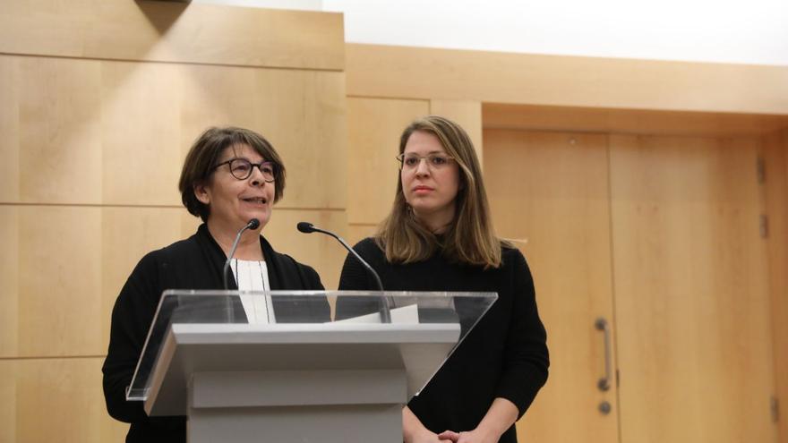 Inés Sabanés y Janet Sanz, delegadas de Medio Ambiente de Madrid y Barcelona, respectivamente.