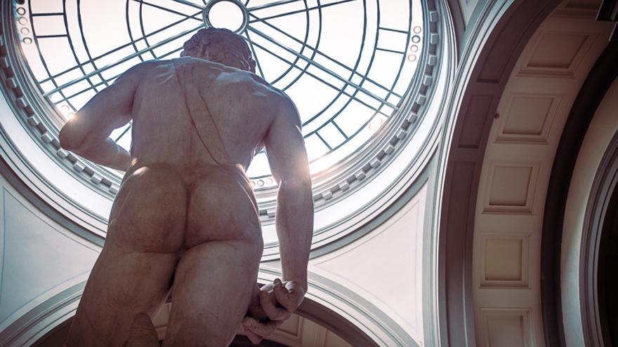 El David de Michelangelo en la Galleria dell'Accademia.