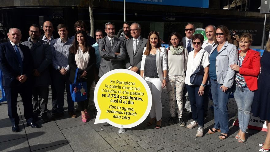 Pamplona recrea ocho accidentes a escala real en el espacio público para concienciar a la ciudadanía