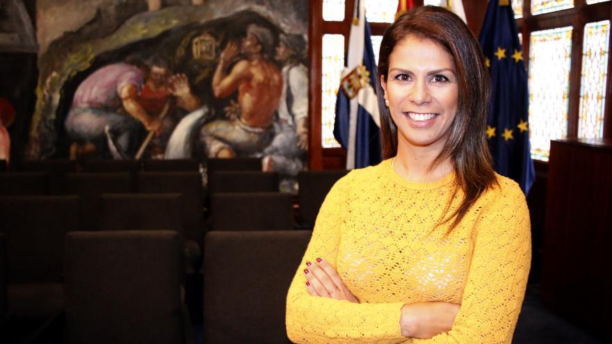 Laura Castro, en el Cabildo de Tenerife