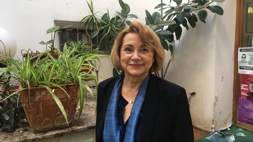 La investigadora del exilio republicano Victoria Fernández Díaz en Ca Revolta
